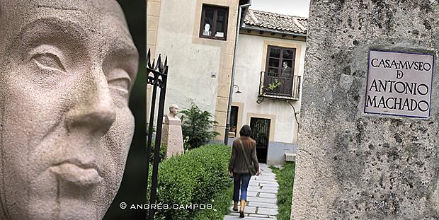 Busto de Antonio Machado en su casa-museo de Segovia.