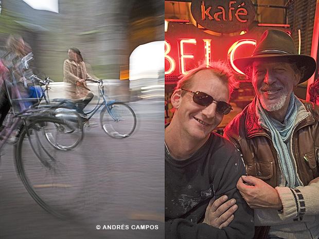 Bicis y cervecería en Utrecht (Holanda).