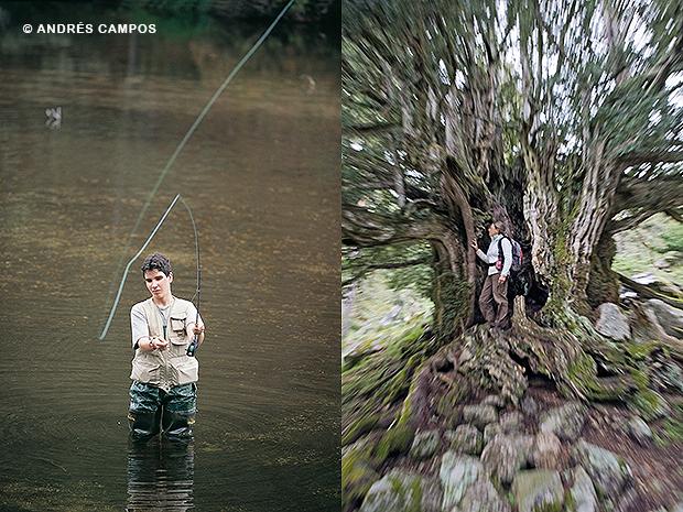 Pescador y tejo